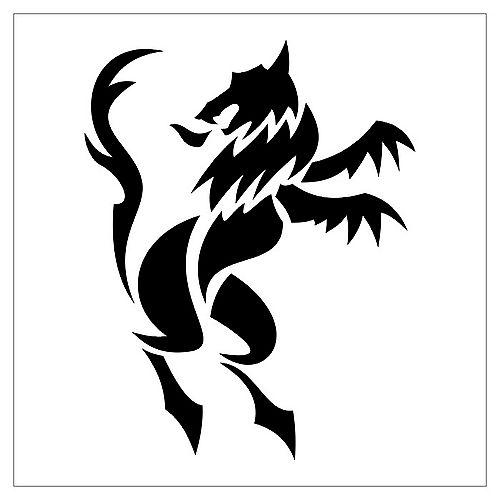 卡通图腾狐狸纹身图案图片