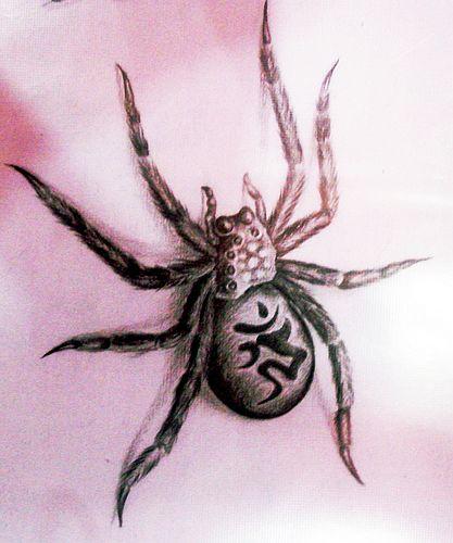 湖北荆州专业纹身店:蜘蛛纹身(tattoo)图案图片大全