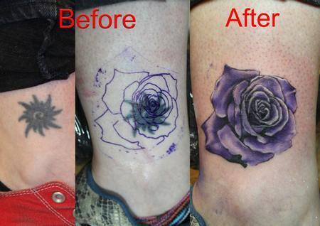 一款适合遮盖的脚踝黑白玫瑰纹身图案图片大全图片