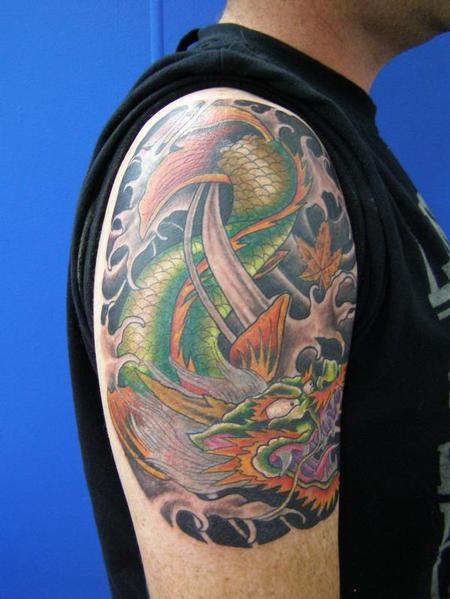 大臂鳌鱼纹身图案图片大全