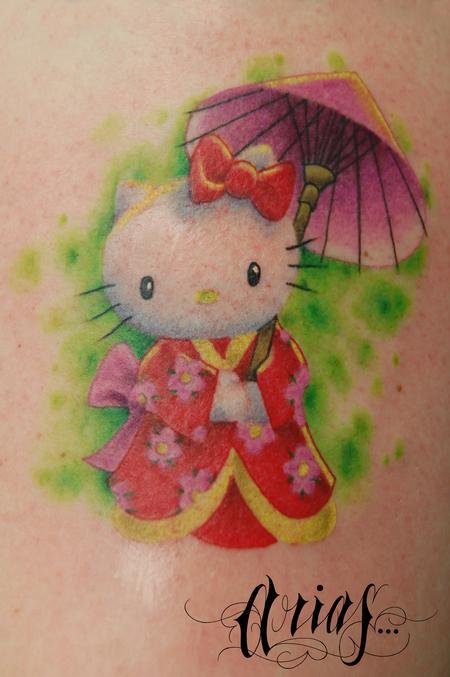超级可爱的卡通猫咪纹身图案图片大全