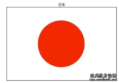 日式手绘红太阳素材