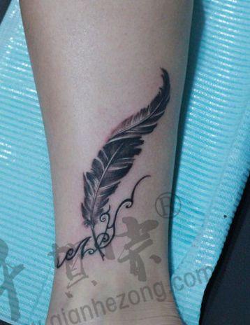 欧美包小腿纹身手稿