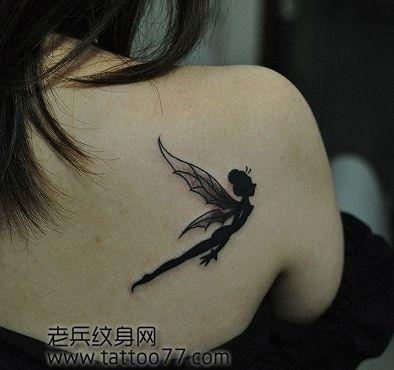 小精灵纹身图案