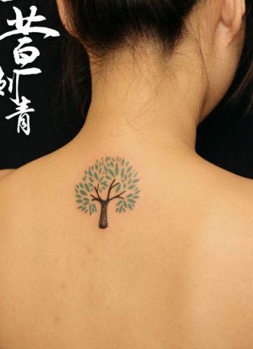 的小树纹身图案