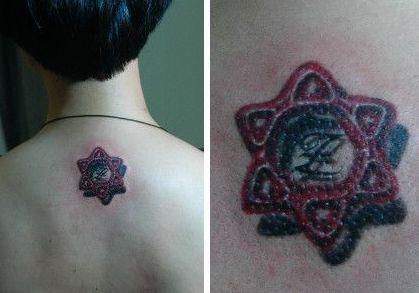 女生手指六芒星纹身内容图片分享图片