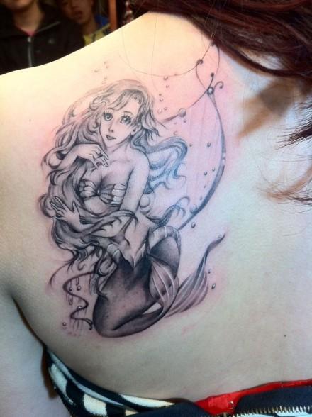 最漂亮的美人鱼纹身内容|最漂亮的美人鱼纹身图片