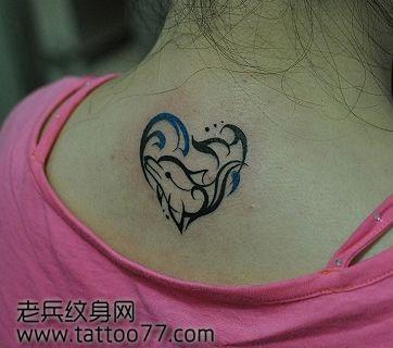 cn/         女生腿部可爱的图腾猫咪纹身图案         腿部简单好看