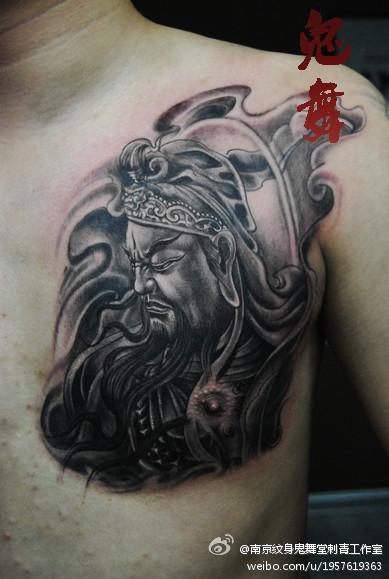 手臂超酷的赵云赵子龙纹身图片图片