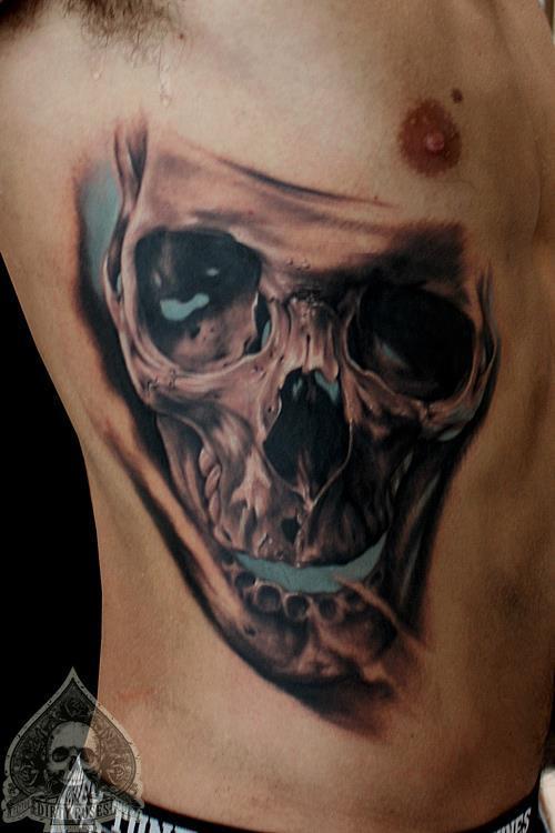 美骷髅纹身图案