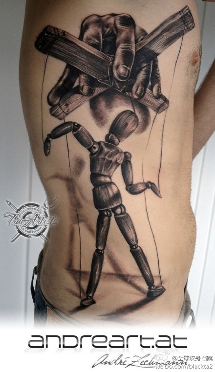 提线木偶纹身图案图片