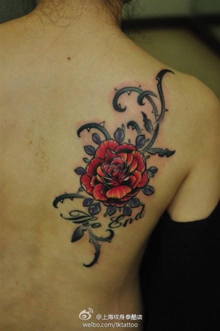 纹身图案大全 玫瑰纹身图案大全