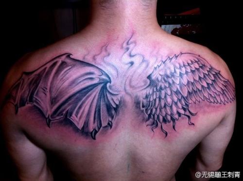 魔翅膀纹身图片 天使恶魔翅膀纹身 图,纹身天使恶魔翅膀图案 高清图片