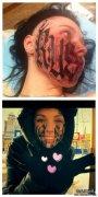 俄罗斯设计师Lesya为表达爱情,在脸上纹上爱人的名字!