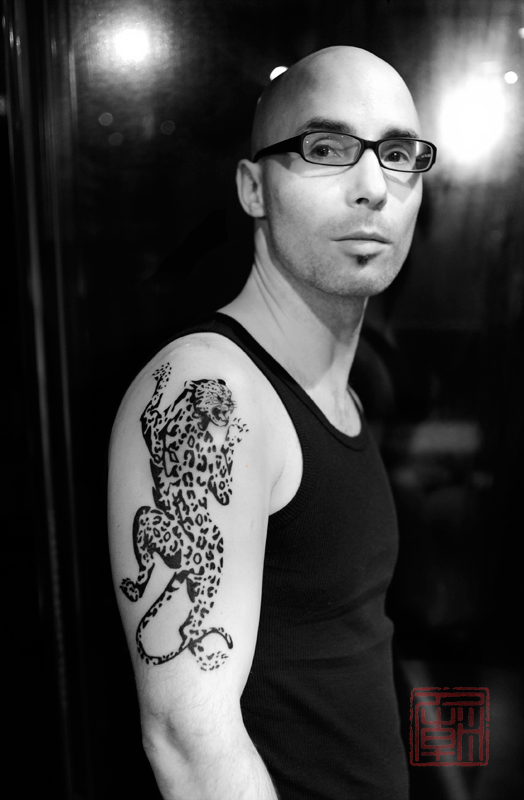 腾豹子纹身图案