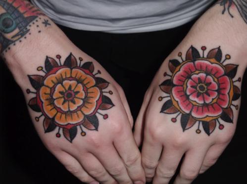 手臂时尚唯美的欧美花卉纹身图案