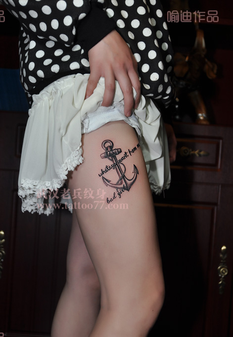 船锚纹身手稿 船锚情侣纹身手稿 船舵纹身手稿图片