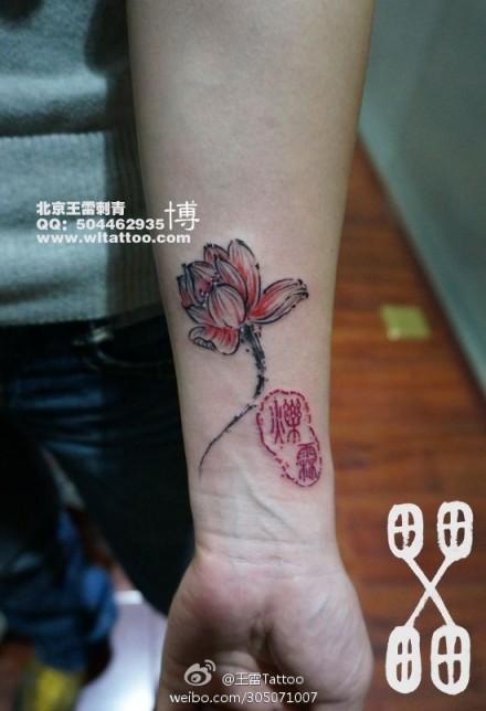 手绘唯美的玫瑰花花纹背景素材