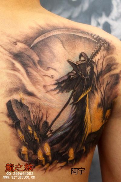 款死神纹身图案