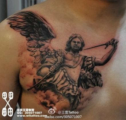 的小天使纹身图案_图纸分享