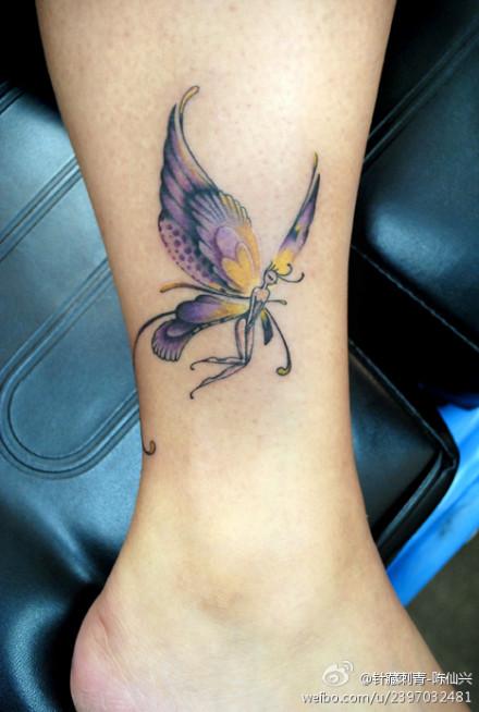 蝶精灵纹身图案