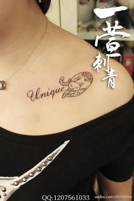 女生翅膀纹身锁骨_女生纹身纹锁骨含义