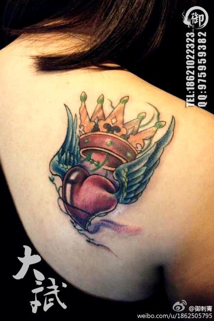 纹身图案男脖子分享展示
