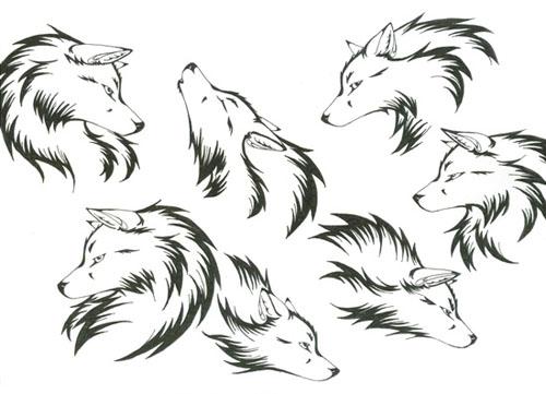 狼头纹身图案大全_搜漫画