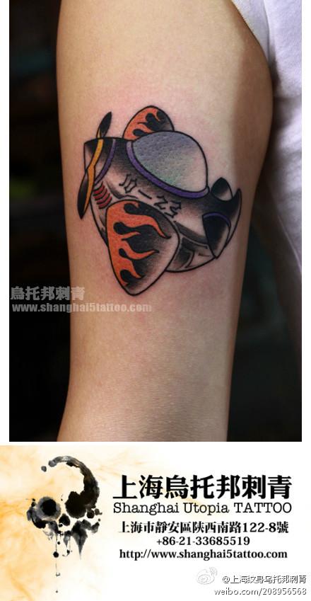 女生小臂纹身手稿小臂鱼纹身小臂_纹身图案