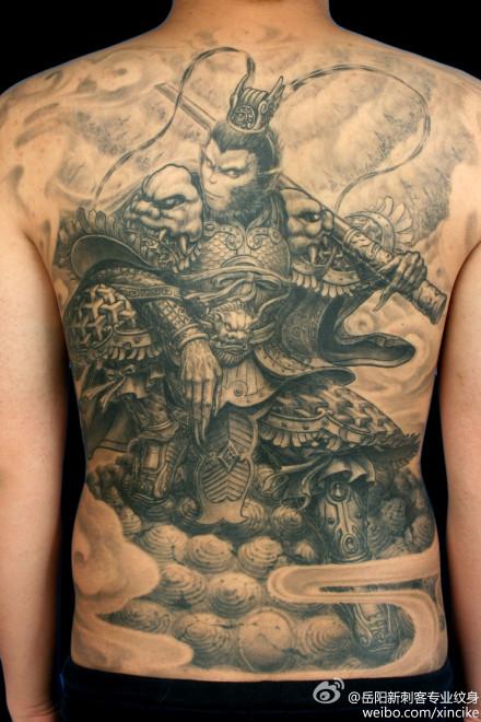 鱼纹身   海马文身图案 后背图腾海马纹身图案图片   背部帅高清图片