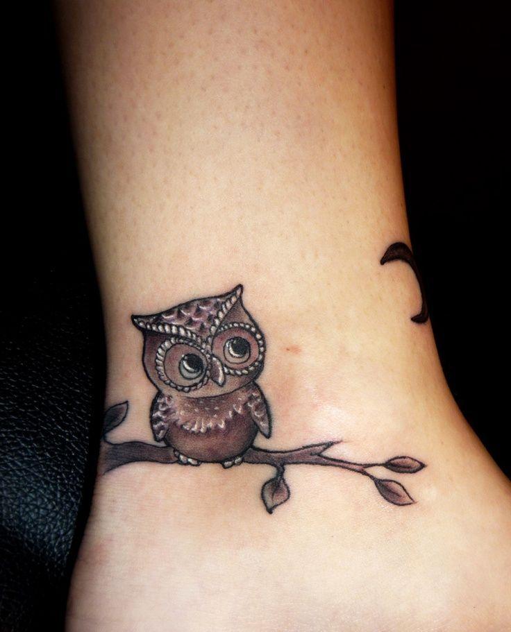 推荐一款可爱的猫头鹰纹身图案