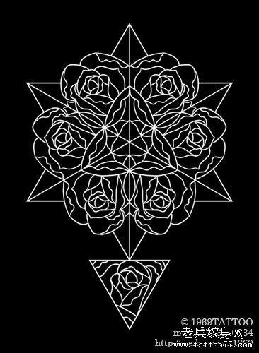 条玫瑰花纹身图案