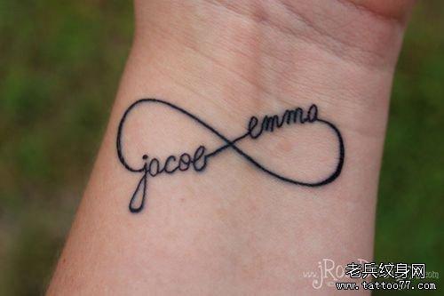 推荐一款手腕字母纹身图案