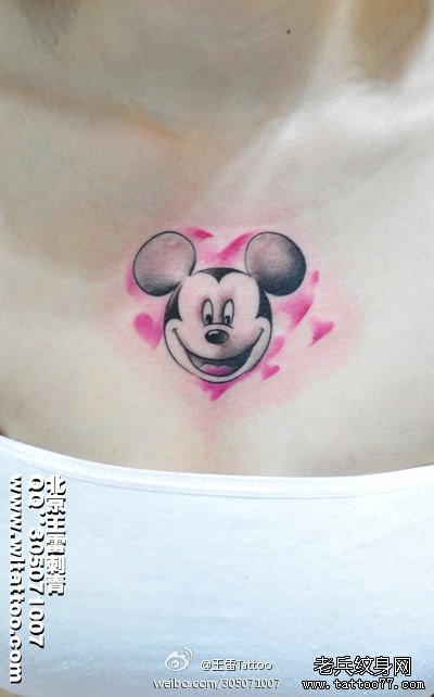 米奇纹身图案分享展示图片