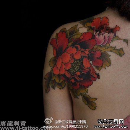 的传统牡丹纹身图案 (440x440)