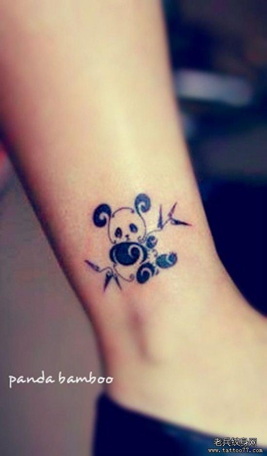 六小龄童纹身_可爱的小熊猫纹身图案图片
