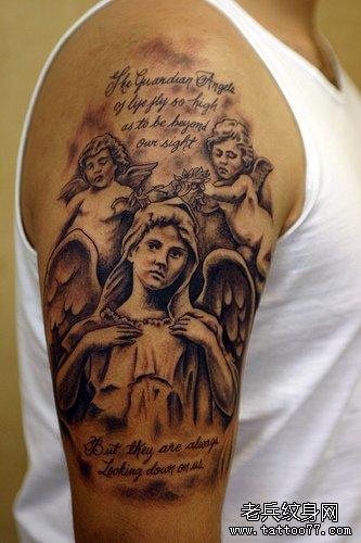 欧美肖像纹身图案