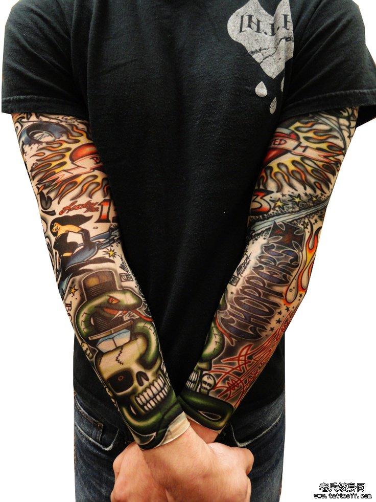 推荐一款欧美花臂纹身图案