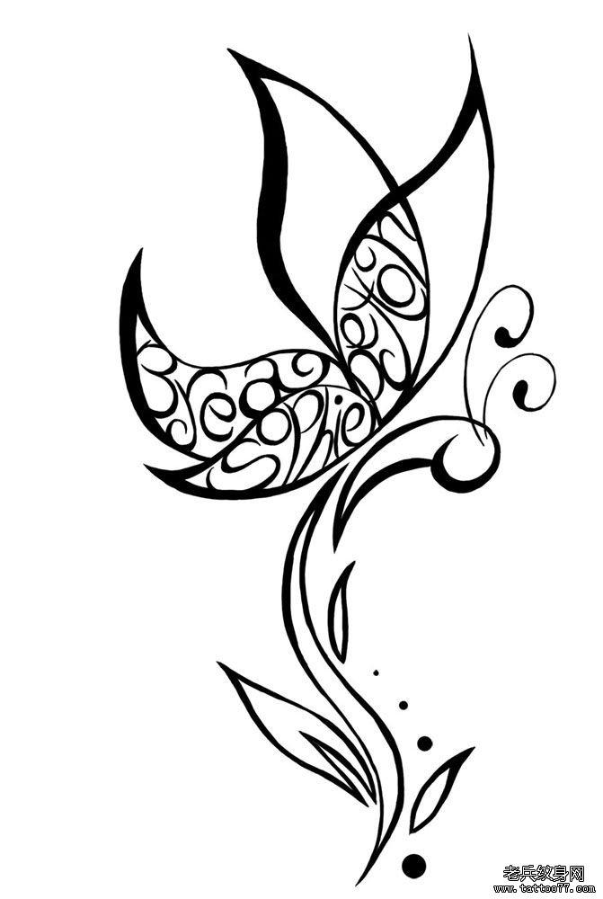 纹身图案大全 蝴蝶纹身图案大全 (671x1000)