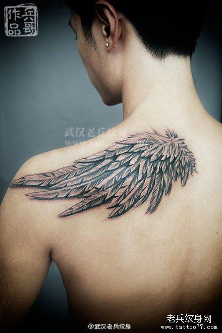 纹身天使与魔鬼纹身天使之翼天使纹身图案纹身
