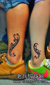 推荐一款情侣脚踝图腾纹身图案