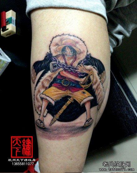 贼王路飞纹身图案