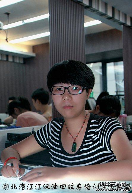 潜江纹身培训学员陈璐来自武汉老兵纹身师培训学校