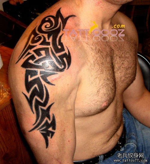 分享一款大臂图腾纹身图案