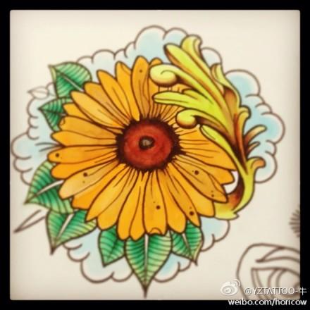 纹身图案 太阳小纹身手稿 > 经典的太阳图腾手稿纹身图案  经典的太阳