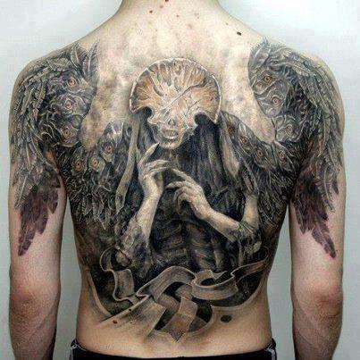 背死神纹身图案
