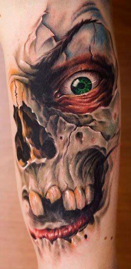 分享一款超霸气的死神纹身图案