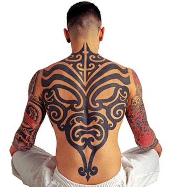 分享一款霸气的满背图腾纹身图案