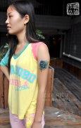 武汉最好纹身店打造的疤痕遮盖--手臂SCHOOL玫瑰纹身作品
