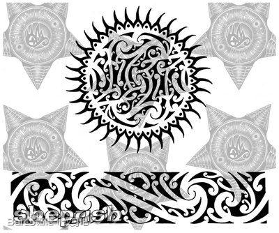 时尚很酷的一款玛雅图腾纹身图案图片